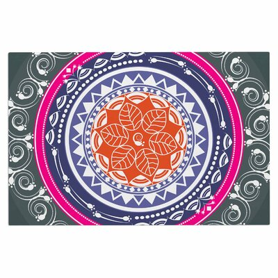 Famenxt Boho Folk Colors Mandala Olive Digital Doormat