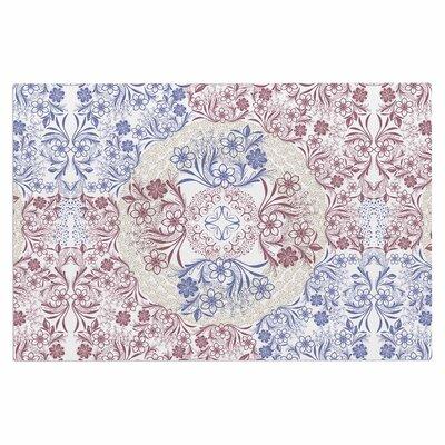 Famenxt Floral Dense Garden Illustration Doormat
