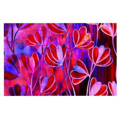 Ebi Emporium Effloresence Doormat Color: Red/Pink/Magenta