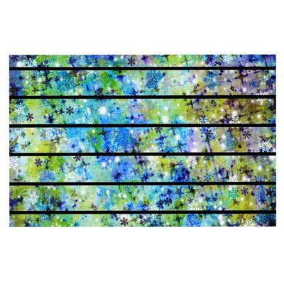 Ebi Emporium Stripes and Snowflakes Doormat