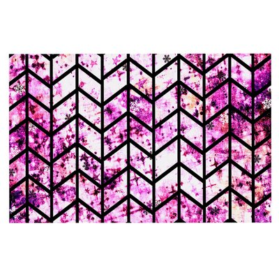 Ebi Emporium Chevron Wonderland II Doormat Color: Pink/Black