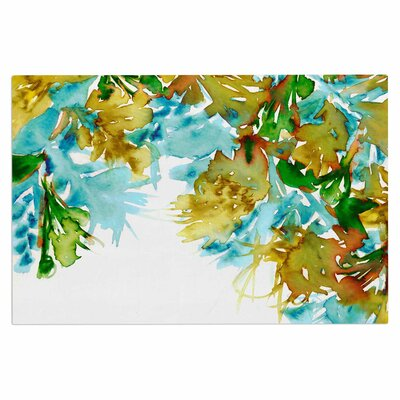Ebi Emporium Floral Cascade 9 Doormat Color: Yellow/Green