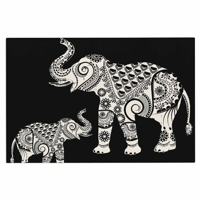 Famenxt Ornamental Indian Elephant Digital Doormat