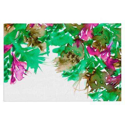 Ebi Emporium Floral Cascade 9 Doormat Color: Pink/Green