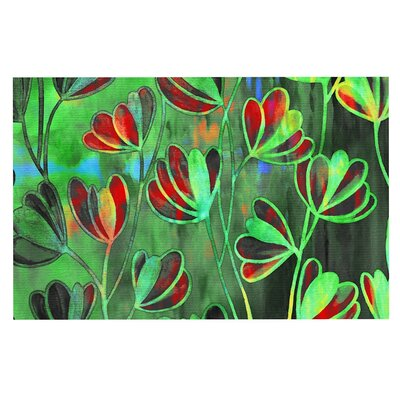 Ebi Emporium Effloresence Doormat Color: Red/Green