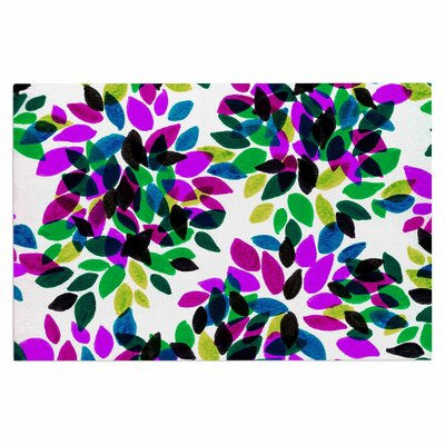 Ebi Emporium Dahlia Dots 2 Doormat Color: Purple/Green