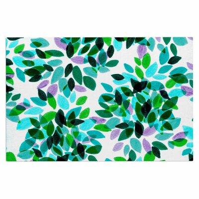 Ebi Emporium Dahlia Dots 2 Doormat Color: Teal/Green