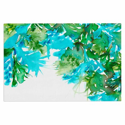 Ebi Emporium Floral Cascade 9 Doormat Color: Teal/Green