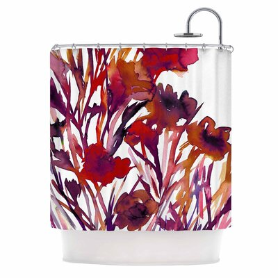 Ebi Emporium Pocket Full of Posies Red Shower Curtain