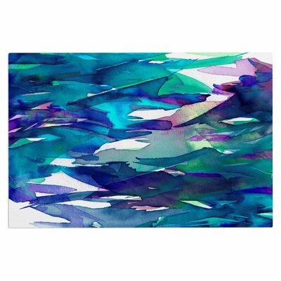 Ebi Emporium Fervor 4 Abstract Doormat Color: Blue/Teal