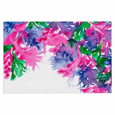 Ebi Emporium Floral Cascade 4 Doormat Color: Pink