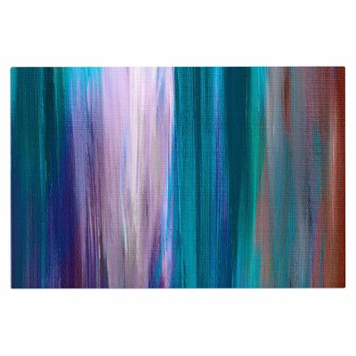 Ebi Emporium Irradiated Multi 3 Doormat Color: Teal/Lavender