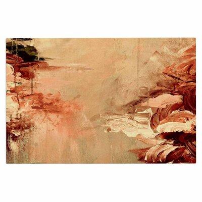 Ebi Emporium Winter Dreamland 4 Doormat Color: Orange/Maroon