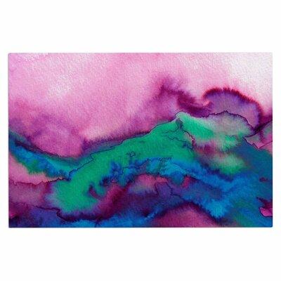 Ebi Emporium Winter Waves 9 Abstract Doormat Color: Pink