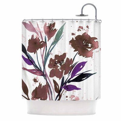 Ebi Emporium Pocket Full of Posies Brown Shower Curtain