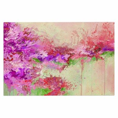 Ebi Emporium When Land Met Sky 3 Doormat Color: Pink/Green