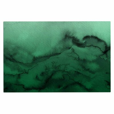 Ebi Emporium Winter Waves 9 Abstract Doormat Color: Green/Black