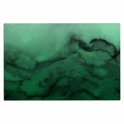 Ebi Emporium Winter Waves 9 Abstract Doormat Color: Green/Black