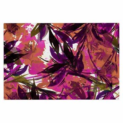Ebi Emporium Floral Fiesta Plum Watercolor Painting Doormat Color: Plum