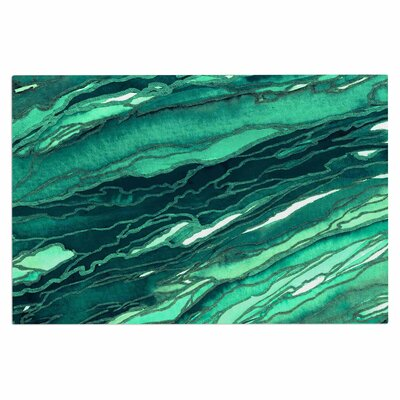 Ebi Emporium Agate Magic Geological Doormat Color: Teal Green/Jade