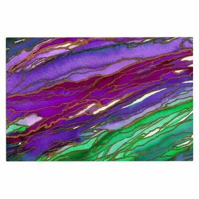 Ebi Emporium Agate Magic Geological Doormat Color: Lime Purple/Green Lavender
