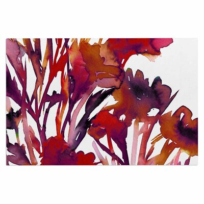 Ebi Emporium Pocket Full of Posies Doormat Color: Red/Maroon/Purple