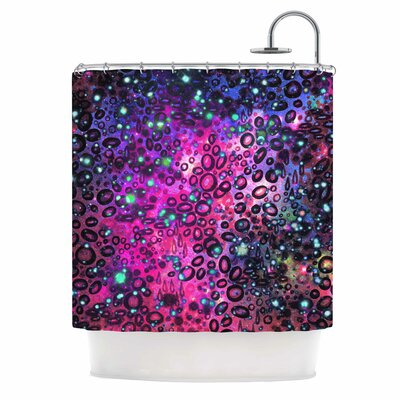 Ebi Emporium Rainbow Dotty Ocean Shower Curtain Color: Pink