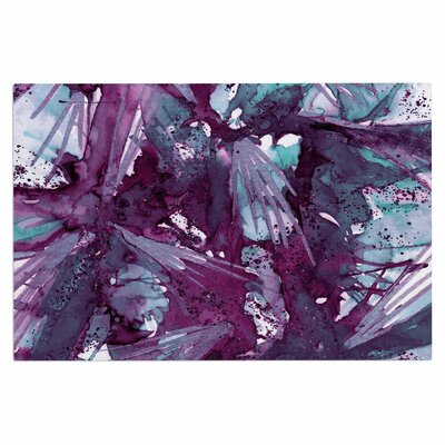 Ebi Emporium Birds of Prey Doormat Color: Aqua/Purple/Blue
