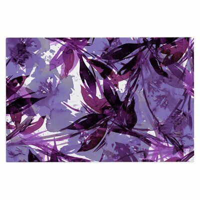 Ebi Emporium Floral Fiesta Plum Watercolor Painting Doormat Color: Purple/Lavender