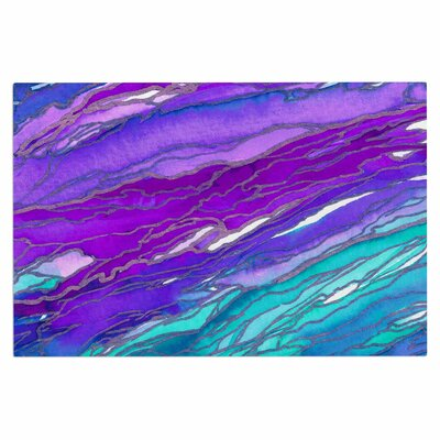 Ebi Emporium Agate Magic Geological Doormat Color: Purple Blue/ Aqua Lavender