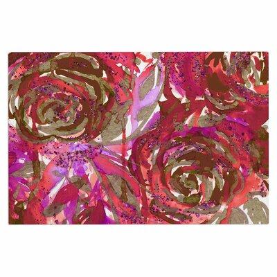 Ebi Emporium Rose Combustion Floral Doormat