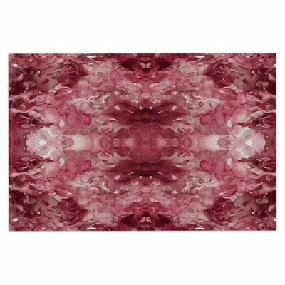 Ebi Emporium Tie Dye Helix, Burgundy Abstract Doormat Color: Burgundy