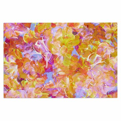 Ebi EmporiumBloom on! Abstract Doormat Color: Yellow Orange/Pink Orange