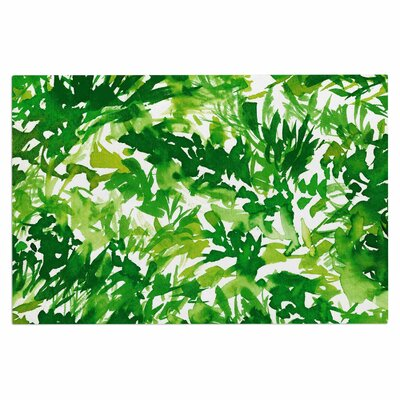 Ebi Emporium In the Meadow 4 Multi Doormat Color: Green/White