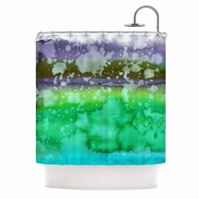 Ebi Emporium California Surf 7 Shower Curtain Color: Green