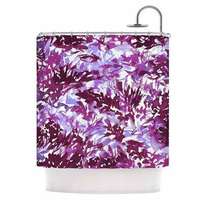 Ebi Emporium in the Meadow 3 - Plum Purple Shower Curtain Color: Plum/Purple