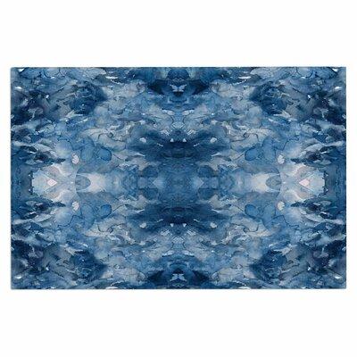 Ebi Emporium Tie Dye Helix, Burgundy Abstract Doormat Color: Blue/White