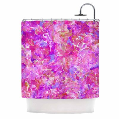 Ebi Emporium Bloom On! Abstract Shower Curtain Color: Purple