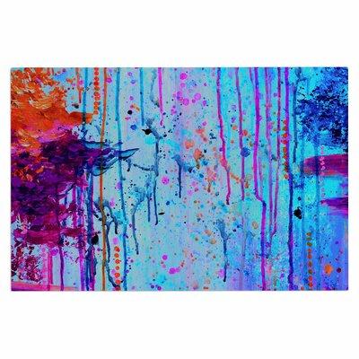 Ebi Emporium Happy Tears 4 Doormat Color: Blue/Purple