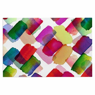 Ebi Emporuim Strokes of Genius 2 Rainbow Doormat