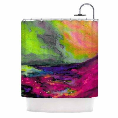 Ebi Emporium Elevated 3 Shower Curtain Color: Orange/Pink