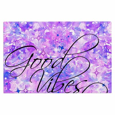 Ebi Emporium Good Vibes only 2 Doormat Color: Purple/Lavender