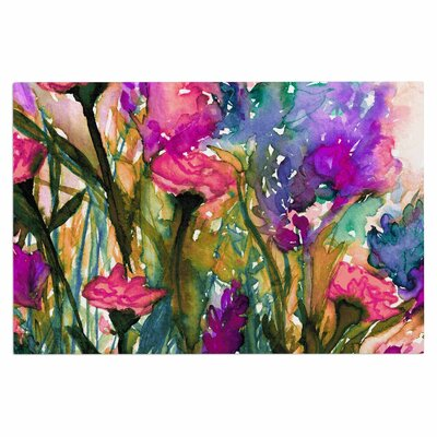 Ebi Emporium Floral Insurgence 6 Doormat Color: Green/Pink