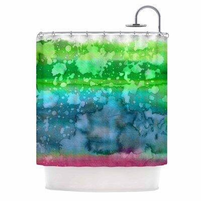 Ebi Emporium California Surf 7 Shower Curtain Color: Green/Teal