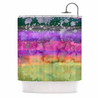 Ebi Emporium California Surf 7 Shower Curtain Color: Pink/Purple