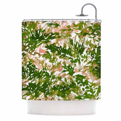 Ebi Emporium in the Meadow 3 - Plum Purple Shower Curtain Color: Green/Pink