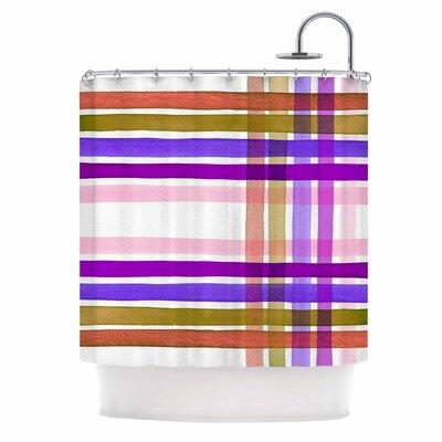 Ebi Emporium Plaid Stripes in Color 6 Shower Curtain