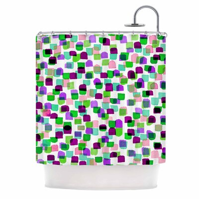 Ebi Emporium Retro Mod Dots 3 Shower Curtain
