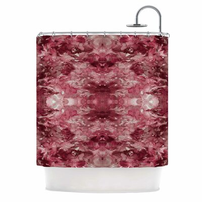 Ebi Emporium Tie Dye Helix Abstract Shower Curtain Color: Red/Burgundy