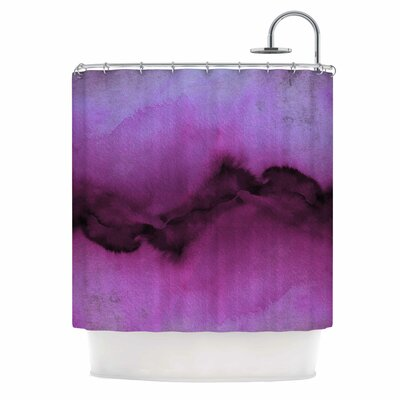 Ebi Emporium the Vibe Plum Purple Shower Curtain